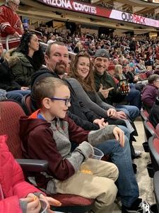 Fred attended Arizona Coyotes vs. Columbus Blue Jackets - NHL on Feb 7th 2019 via VetTix