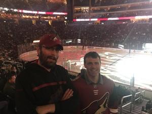 Morgan attended Arizona Coyotes vs. Columbus Blue Jackets - NHL on Feb 7th 2019 via VetTix