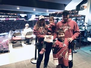 Steven attended Arizona Coyotes vs. Columbus Blue Jackets - NHL on Feb 7th 2019 via VetTix