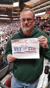 johnny attended Arizona Coyotes vs. Columbus Blue Jackets - NHL on Feb 7th 2019 via VetTix