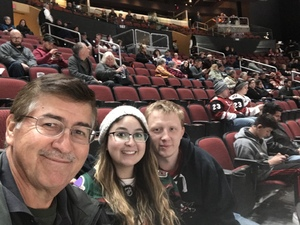 Frank attended Arizona Coyotes vs. Columbus Blue Jackets - NHL on Feb 7th 2019 via VetTix