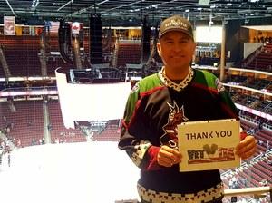 Manuel attended Arizona Coyotes vs. Columbus Blue Jackets - NHL on Feb 7th 2019 via VetTix