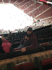 Andre attended Arizona Coyotes vs. Columbus Blue Jackets - NHL on Feb 7th 2019 via VetTix