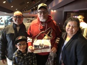 Louis attended Arizona Coyotes vs. Columbus Blue Jackets - NHL on Feb 7th 2019 via VetTix