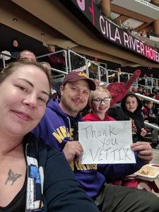 Dean attended Arizona Coyotes vs. Columbus Blue Jackets - NHL on Feb 7th 2019 via VetTix