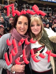 April attended Arizona Coyotes vs. Columbus Blue Jackets - NHL on Feb 7th 2019 via VetTix