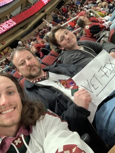 James attended Arizona Coyotes vs. Columbus Blue Jackets - NHL on Feb 7th 2019 via VetTix