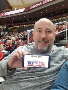Tom attended Arizona Coyotes vs. Columbus Blue Jackets - NHL on Feb 7th 2019 via VetTix