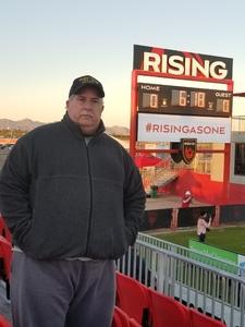Don attended 2019 Mobile Mini Sun Cup - Phoenix Rising vs. Sporting Kansas City on Feb 7th 2019 via VetTix