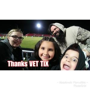 Justin attended 2019 Mobile Mini Sun Cup - Phoenix Rising vs. Sporting Kansas City on Feb 7th 2019 via VetTix