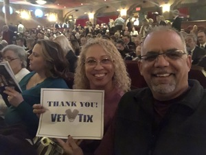 Hector & Ada Ramos attended The Elixir of Love - Presented by the Virginia Opera on Feb 22nd 2019 via VetTix