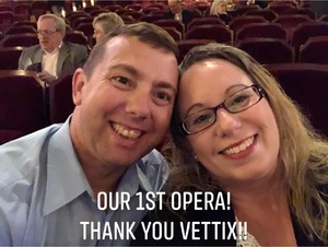 Duane attended The Elixir of Love - Presented by the Virginia Opera on Feb 22nd 2019 via VetTix