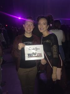 Marina attended Kelly Clarkson: Meaning Of Life Tour on Feb 1st 2019 via VetTix