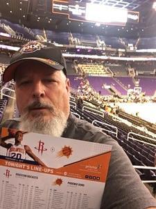 STEVEN attended Phoenix Suns vs. Houston Rockets - NBA on Feb 4th 2019 via VetTix