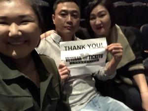 Yong attended Hymn Sarah Brightman in Concert - Adult Contemporary on Feb 5th 2019 via VetTix