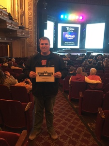 Justin attended Disney's Dcappella - Other on Feb 8th 2019 via VetTix