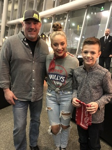 Timothy attended Kelly Clarkson on Feb 7th 2019 via VetTix