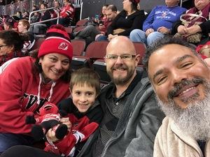 Stacy attended New Jersey Devils vs. Carolina Hurricanes - NHL on Feb 10th 2019 via VetTix