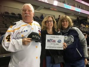 George attended Jacksonville Icemen vs. Manchester Monarchs - ECHL on Feb 13th 2019 via VetTix
