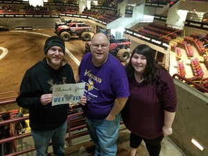 Bruce attended 2019 Traxxas Monster Truck Tour - Evening Performance on Feb 16th 2019 via VetTix