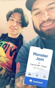 Angel attended Monster Jam on Feb 23rd 2019 via VetTix