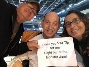 John attended Monster Jam Triple Threat Series on Feb 24th 2019 via VetTix