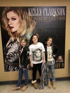 Trista attended Kelly Clarkson on Feb 9th 2019 via VetTix