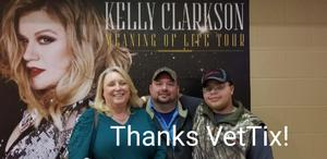 Rochelle attended Kelly Clarkson on Feb 9th 2019 via VetTix