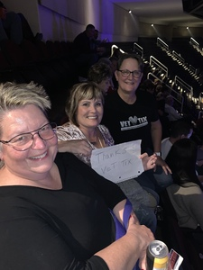 Michele attended Cher: Here We Go Again Tour With Nile Rodgers and Chic on Feb 6th 2019 via VetTix