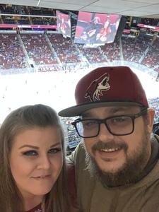 Christopher attended Arizona Coyotes vs. St. Louis Blues - NHL on Feb 14th 2019 via VetTix