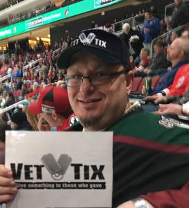 Bradlee attended Arizona Coyotes vs. St. Louis Blues - NHL on Feb 14th 2019 via VetTix