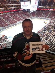 Richard attended Arizona Coyotes vs. St. Louis Blues - NHL on Feb 14th 2019 via VetTix