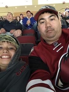 Edward attended Arizona Coyotes vs. Toronto Maple Leafs - NHL on Feb 16th 2019 via VetTix