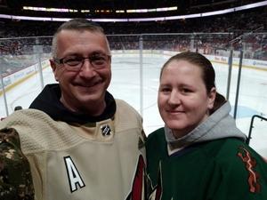 Christopher attended Arizona Coyotes vs. Toronto Maple Leafs - NHL on Feb 16th 2019 via VetTix