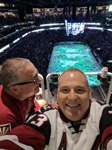 Mikel attended Arizona Coyotes vs. Toronto Maple Leafs - NHL on Feb 16th 2019 via VetTix