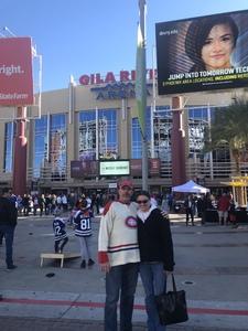 charles attended Arizona Coyotes vs. Toronto Maple Leafs - NHL on Feb 16th 2019 via VetTix