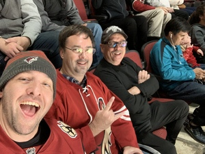 James attended Arizona Coyotes vs. Toronto Maple Leafs - NHL on Feb 16th 2019 via VetTix
