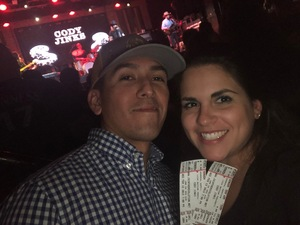 Romano attended Cody Jinks with Sunny Sweeney on Feb 13th 2019 via VetTix