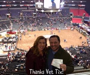George attended PBR Iron Cowboy- Feb. 22 Tickets on Feb 22nd 2019 via VetTix