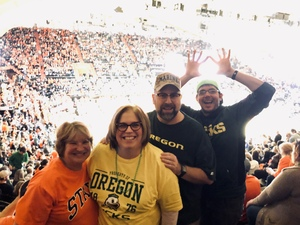 Cy attended Oregon State Beavers vs. Oregon - NCAA Men's Basketball on Feb 16th 2019 via VetTix
