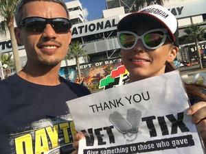 Carlos attended 61st Annual Monster Energy Daytona 500 - NASCAR Cup Series on Feb 17th 2019 via VetTix