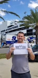 Carissa attended 61st Annual Monster Energy Daytona 500 - NASCAR Cup Series on Feb 17th 2019 via VetTix
