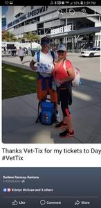 Darlene attended 61st Annual Monster Energy Daytona 500 - NASCAR Cup Series on Feb 17th 2019 via VetTix