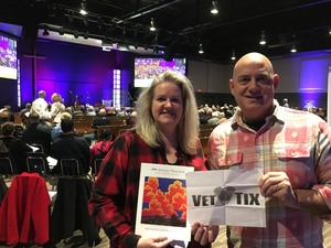 James attended The Ruth Moody Band on Feb 12th 2019 via VetTix