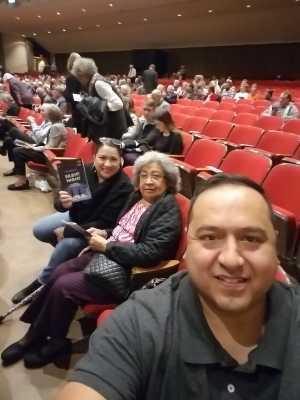 Hector attended Arizona Opera Presents: Silent Night - Saturday Performance on Mar 9th 2019 via VetTix