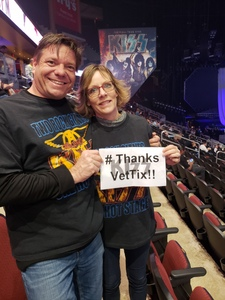 Annette attended Kiss: End of the Road World Tour on Feb 13th 2019 via VetTix