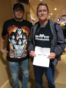 Howard attended Kiss: End of the Road World Tour on Feb 13th 2019 via VetTix