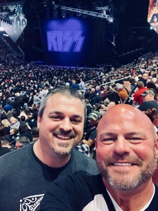 Eric attended Kiss: End of the Road World Tour on Feb 13th 2019 via VetTix