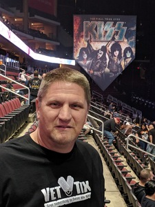 Michael attended Kiss: End of the Road World Tour on Feb 13th 2019 via VetTix