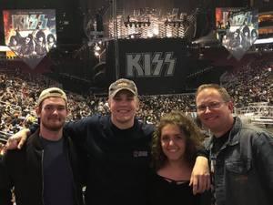 Richard attended Kiss: End of the Road World Tour on Feb 13th 2019 via VetTix